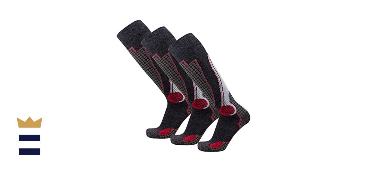 PureAthlete High-Performance Wool Ski Socks