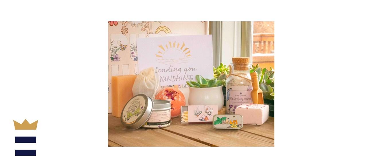 PureChakraCo Sending You Sunshine. Succulent Care Package