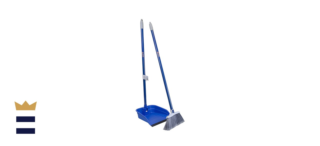 Quickie's Stand & Store Lobby Broom and Dustpan Set