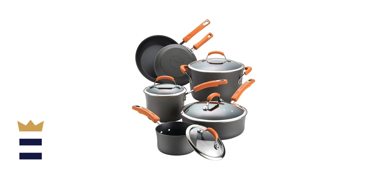 Rachael Ray Brights Hard anodized non-stick cookware set