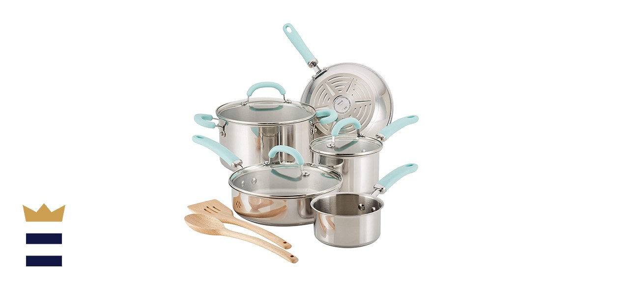 Rachael Ray Create Delicious Stainless Steel Cookware Set