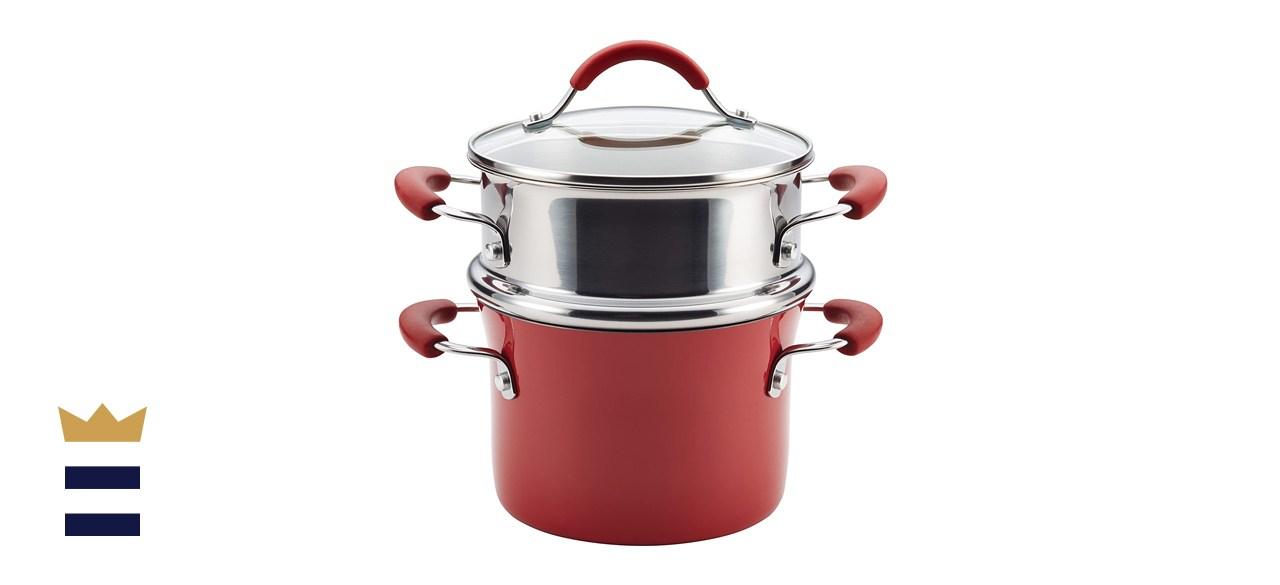 Rachael Ray Cucina Hard Porcelain Enamel Nonstick Multi-Pot/Steamer Set