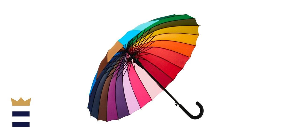 Rainbow Color Wheel Umbrella