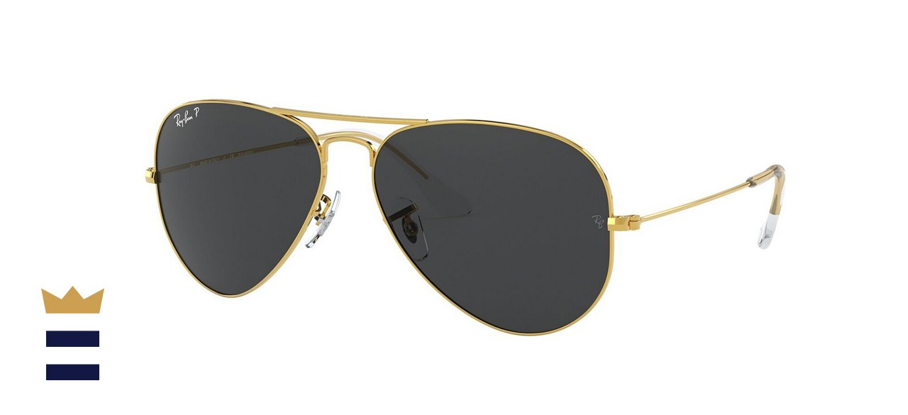 Ray-Ban Unisex Polarized Aviator Sunglasses
