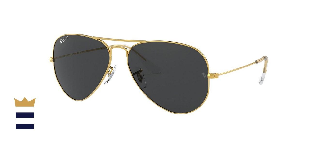Ray-Ban Unisex Polarized Aviator Sunglasses
