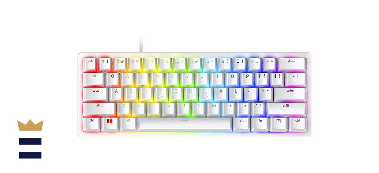 Razer Huntsman Miniature 60% Size RGB Backlit Small Gaming Keyboard in White