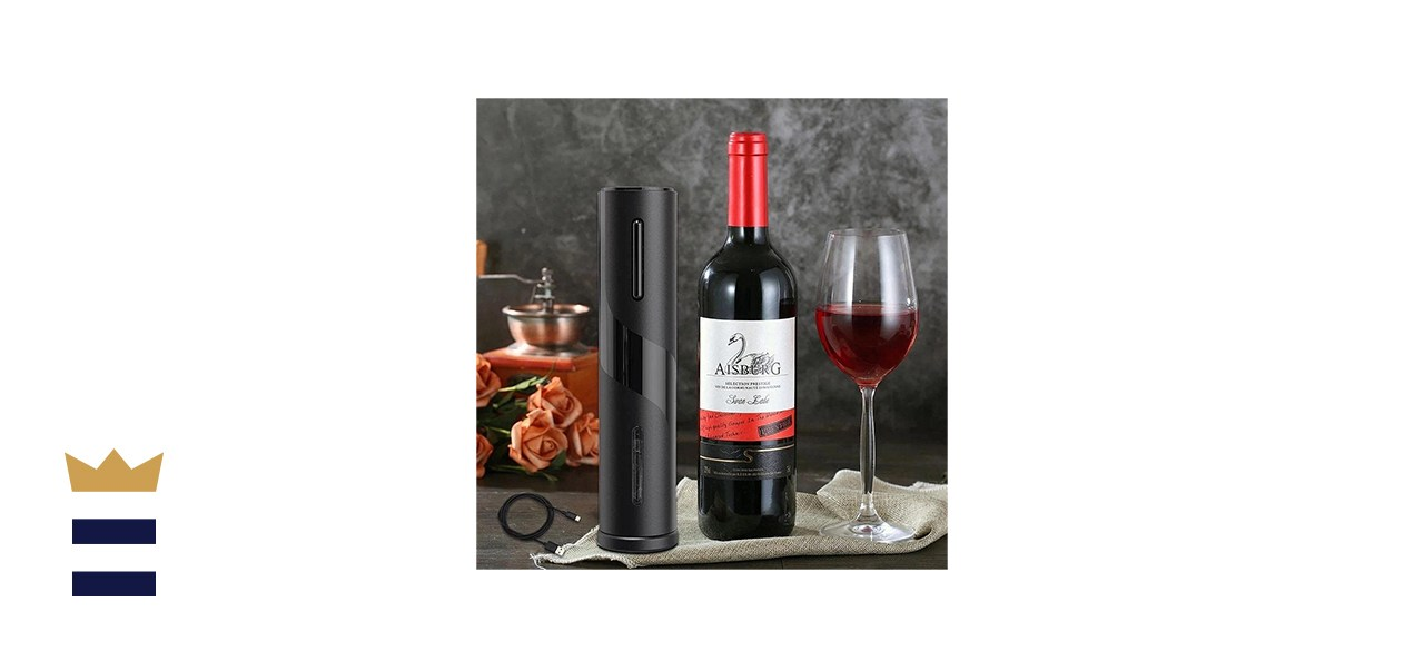 AVNICUD Automatic Electric Wine Bottle Opener with Aluminum Foil Cutter for Bachelor Parties