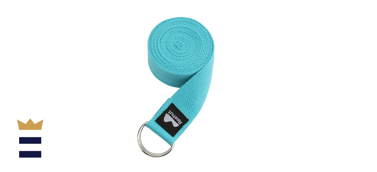 REEHUT Yoga Strap With Adjustable D-Ring Buckle