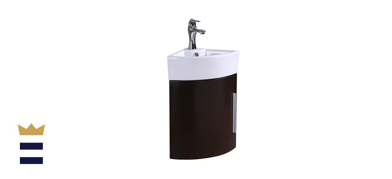 Renovators Supply Corner Wall-Mount Vanity Sink