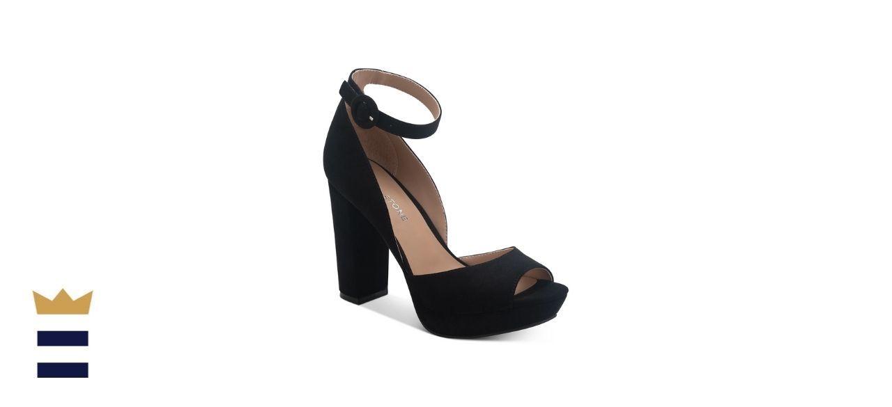 Sun + Stone Reeta Block-Heel Platform Sandals