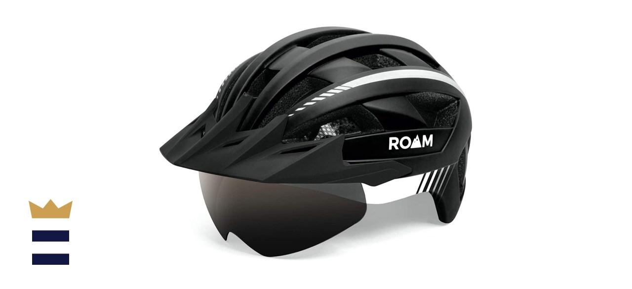 Roam Adult Bike Helmet with Visor and LED Light