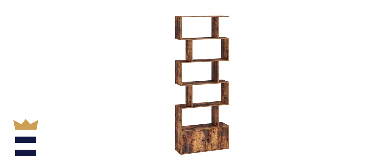 Rolanstar 6-Tier Bookcase with Cabinet