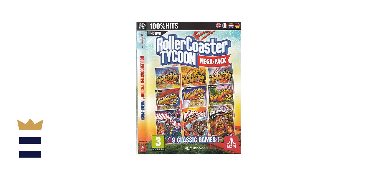 Rollercoaster Tycoon Game Megapack For PC with 9 Rollercoaster Tycoon Games