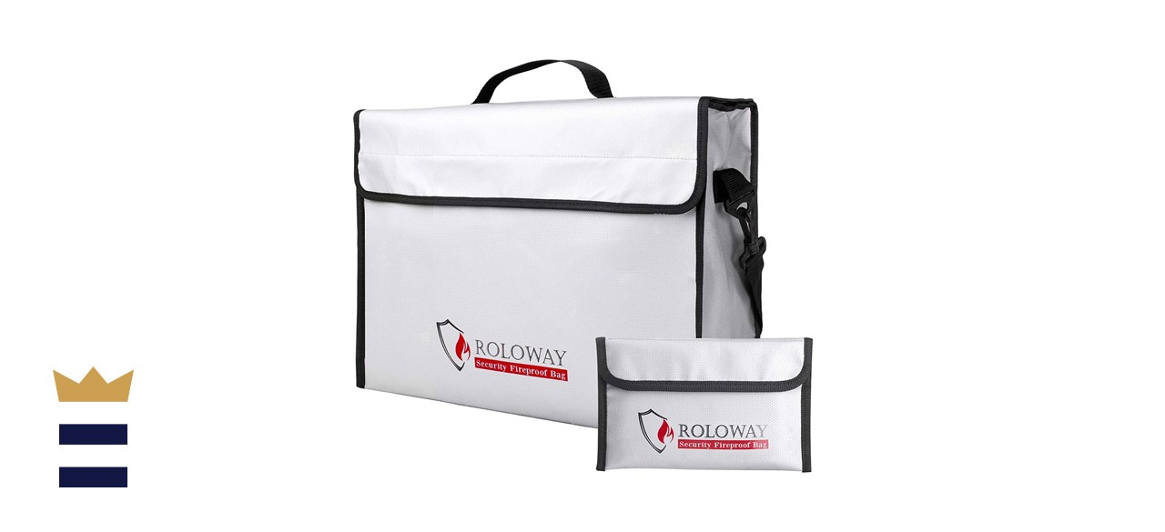 Roloway Fireproof Document Safe Bag