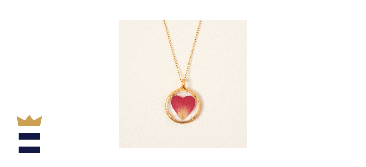 Rose Petal Heart Necklace