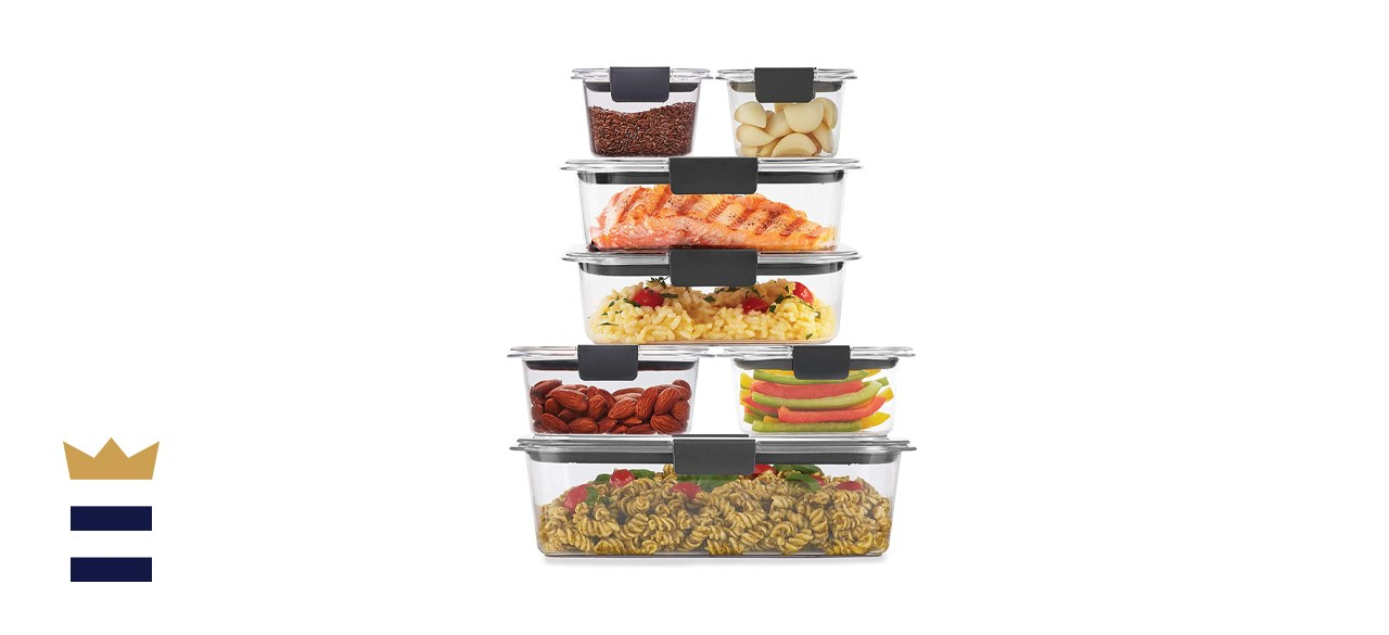 Rubbermaid Brilliance Storage Food Containers set