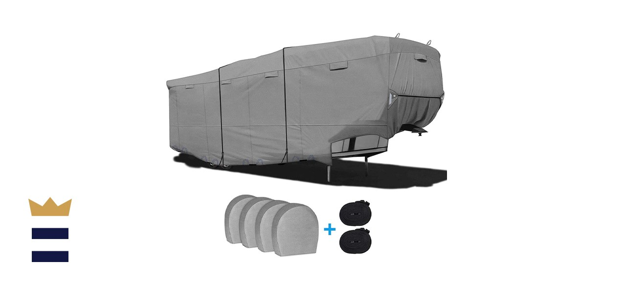 RVMasking Heavy Duty 6-Ply 5th Wheel RV Cover