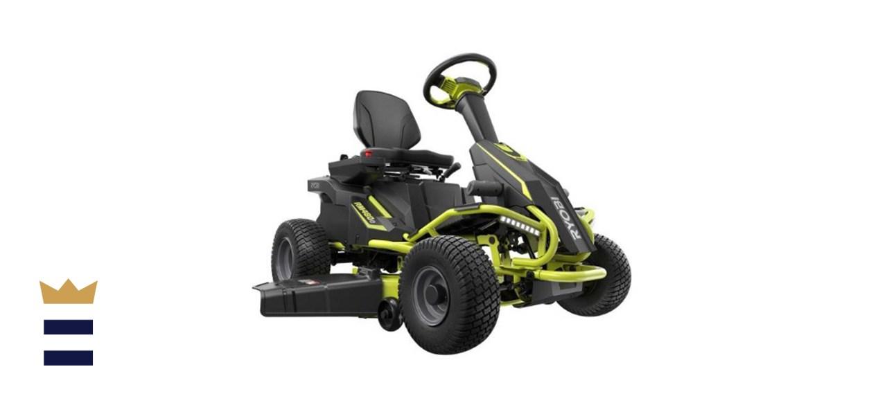 Ryobi 38-inch 75 Ah Battery Electric Rear Engine Riding Lawn Mower