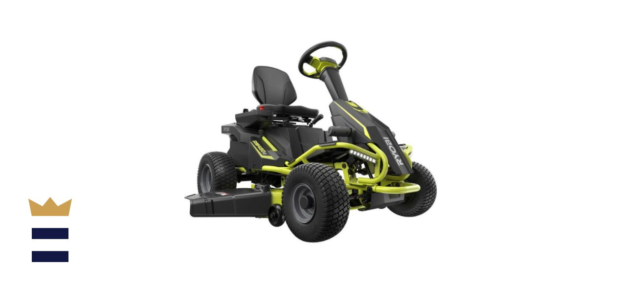 RYOBI Electric Battery Rear Engine Riding Lawn Mower
