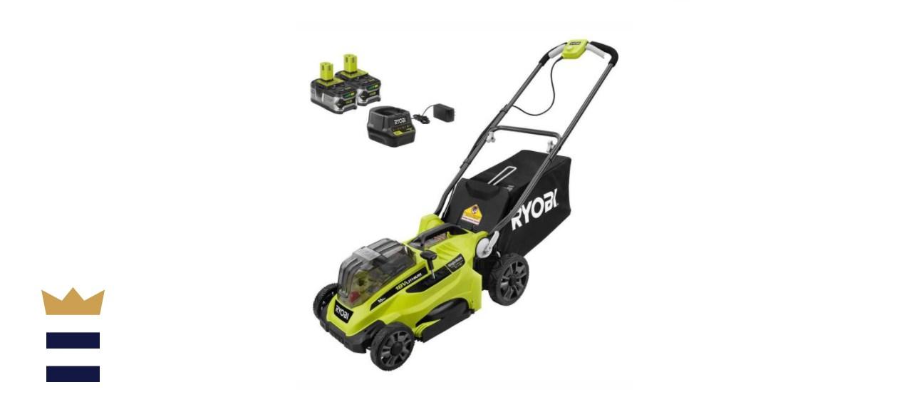 RYOBI ONE+ 16-inch 18-Volt Lithium-Ion Cordless Push Lawn Mower