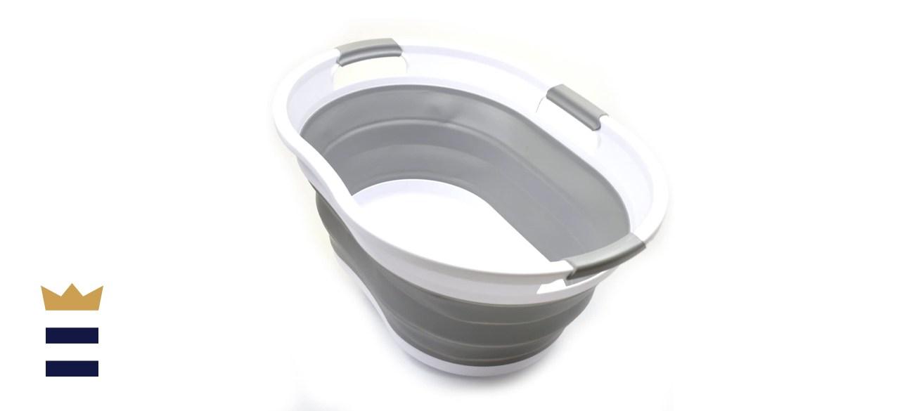 SAMMART 36-Liter Collapsible Laundry Basket