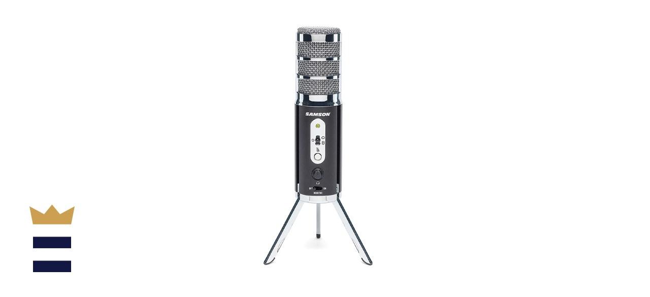Samson Satellite USB/iOS Broadcast Computer Microphone with Tripod Stand