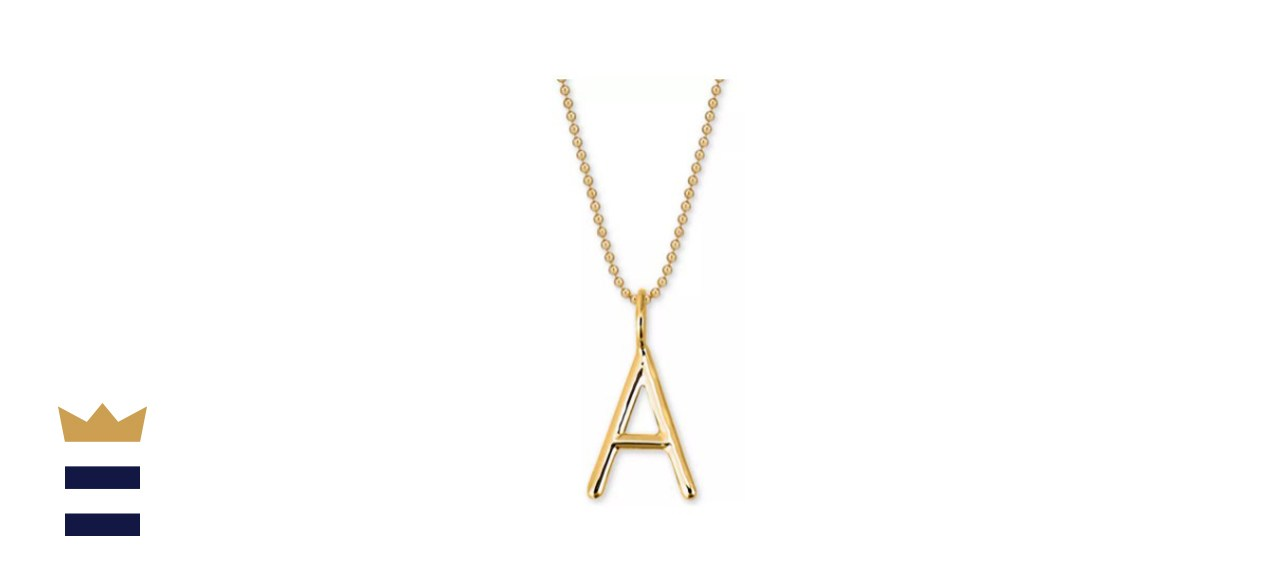 Sarah Chloe Andi Initial Pendant Necklace in 14k Gold-Plate Over Sterling Silver