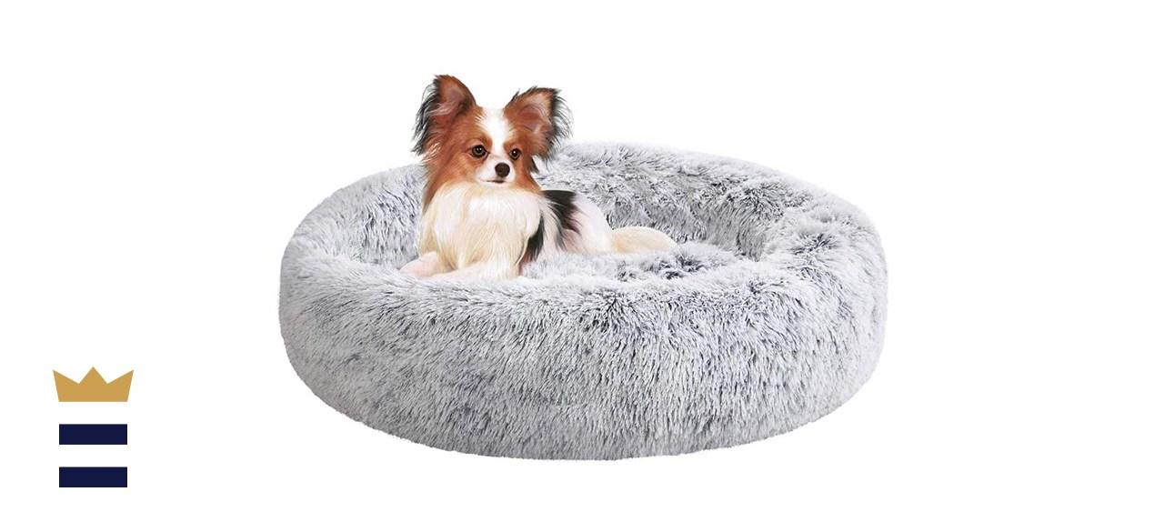 SAVFOX Long Plush Comfy Calming & Self-Warming Orthopedic Bed for Cat & Dog