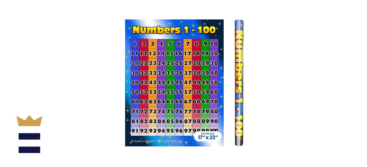 School Smarts Laminated Numbers 1-100 Chart