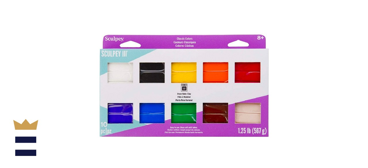 Sculpey III 10 Classic Colors of Polymer Oven-Bake Clay