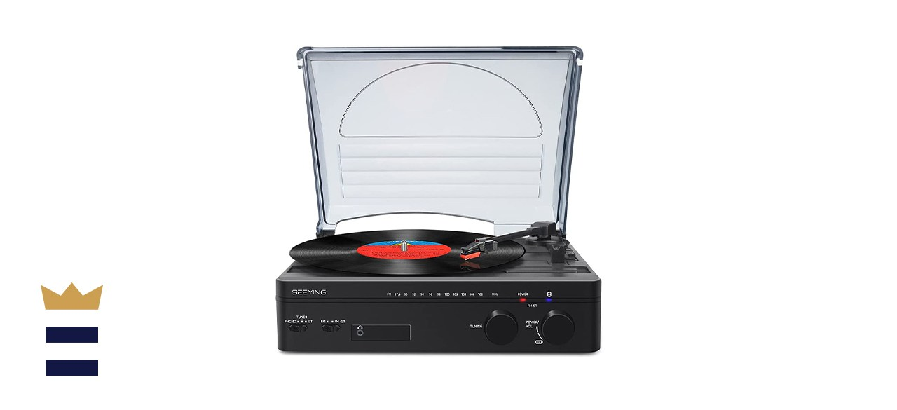 SeeYing Record Player with Speakers Bluetooth Turntable