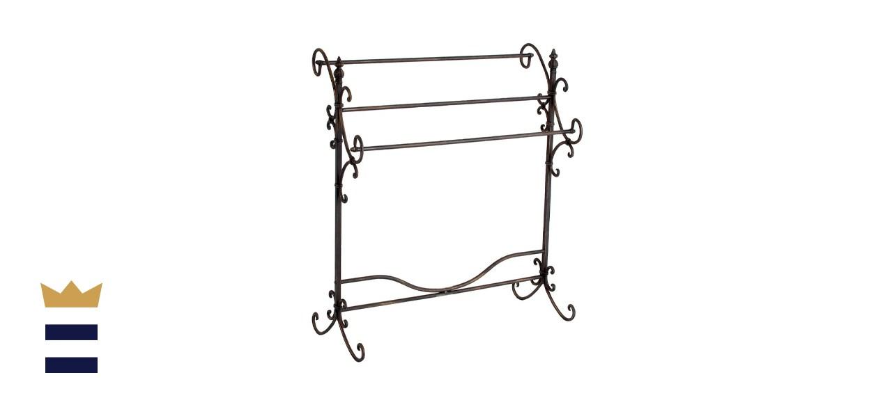 SEI Furniture Scroll 3-Blanket Rack