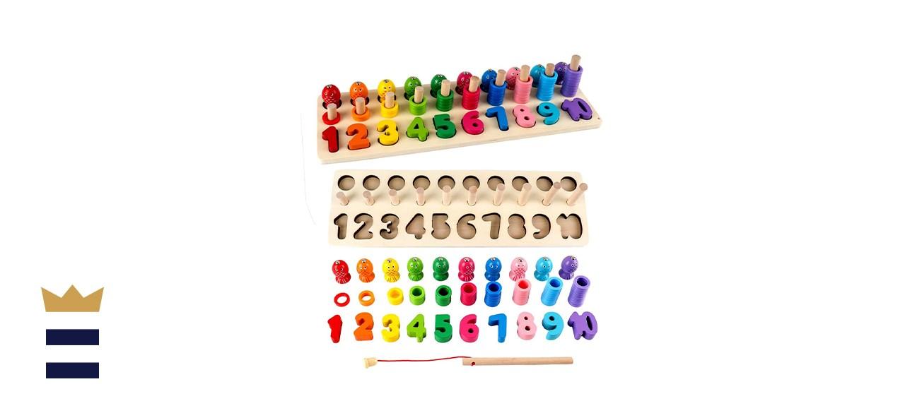 Sendida Montessori Toys Number Puzzle