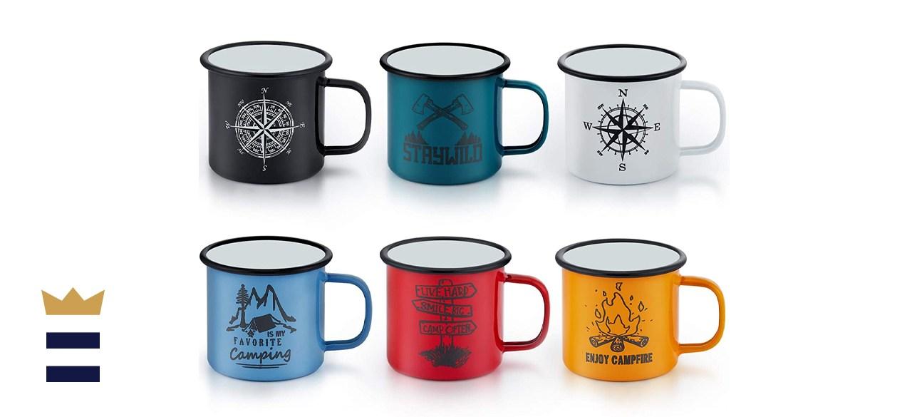 Enamel Camping Mug Set of 6