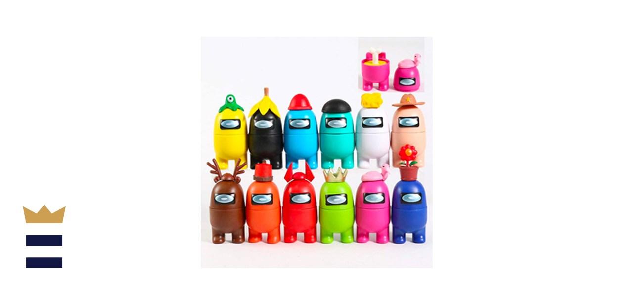 Set of 12 customizable Among Us figurines