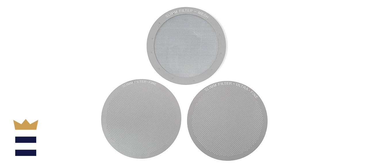 Set of 3 Barista-Quality Reusable Metal Coffee Filters by Slimm Filter