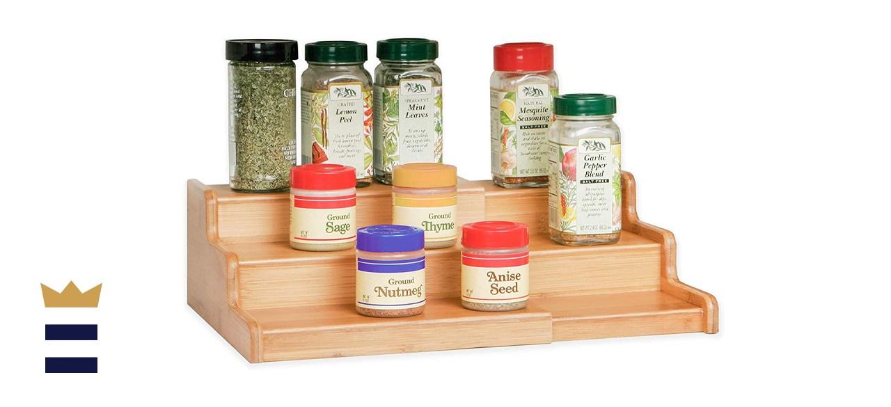 Seville Classics 3-Tier Bamboo Spice Step Shelf