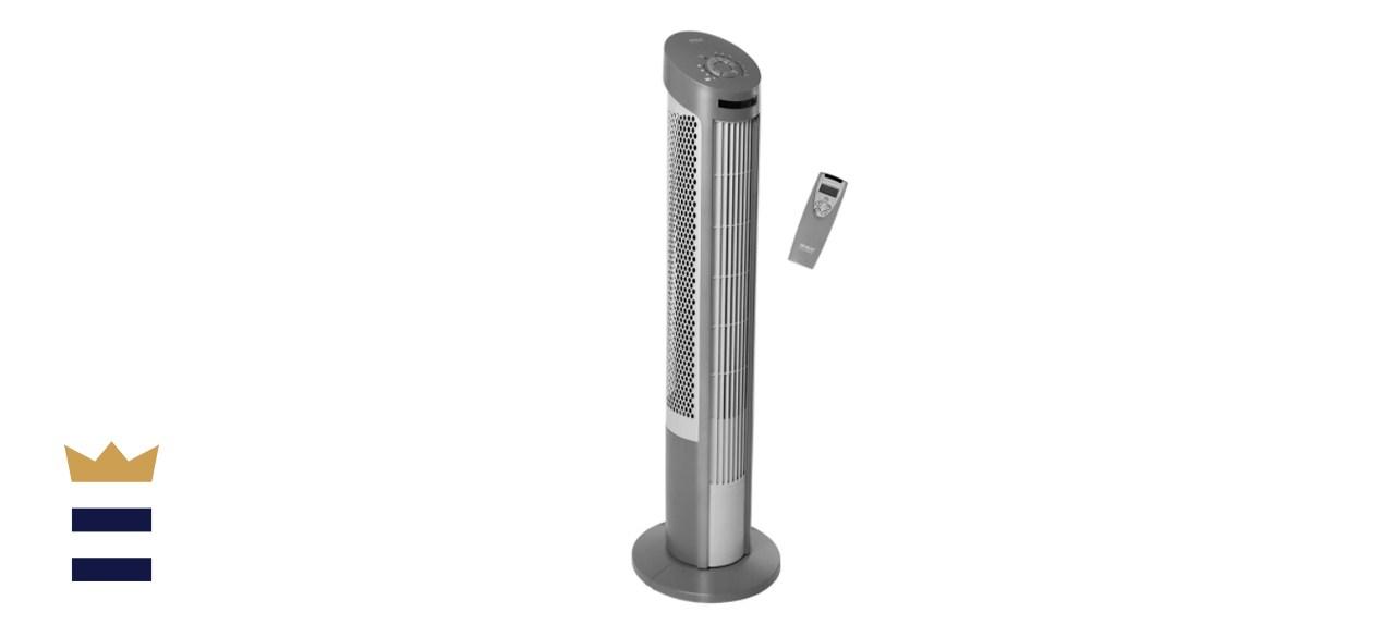 Seville Classics Gray UltraSlimline Oscillating Tower Fan