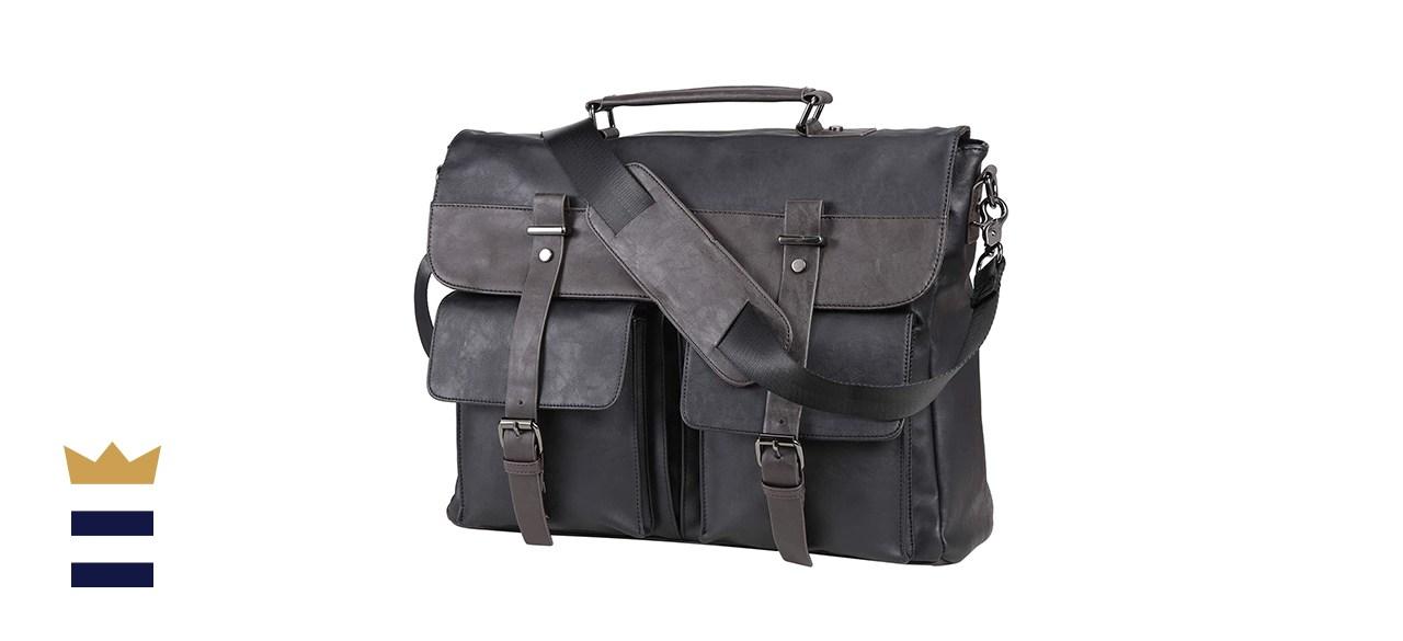 Seyfocnia Vintage Laptop Bag Briefcase Satchel