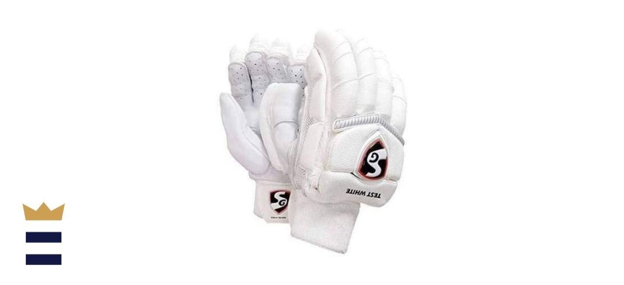 SG Test White Cricket Batting Gloves