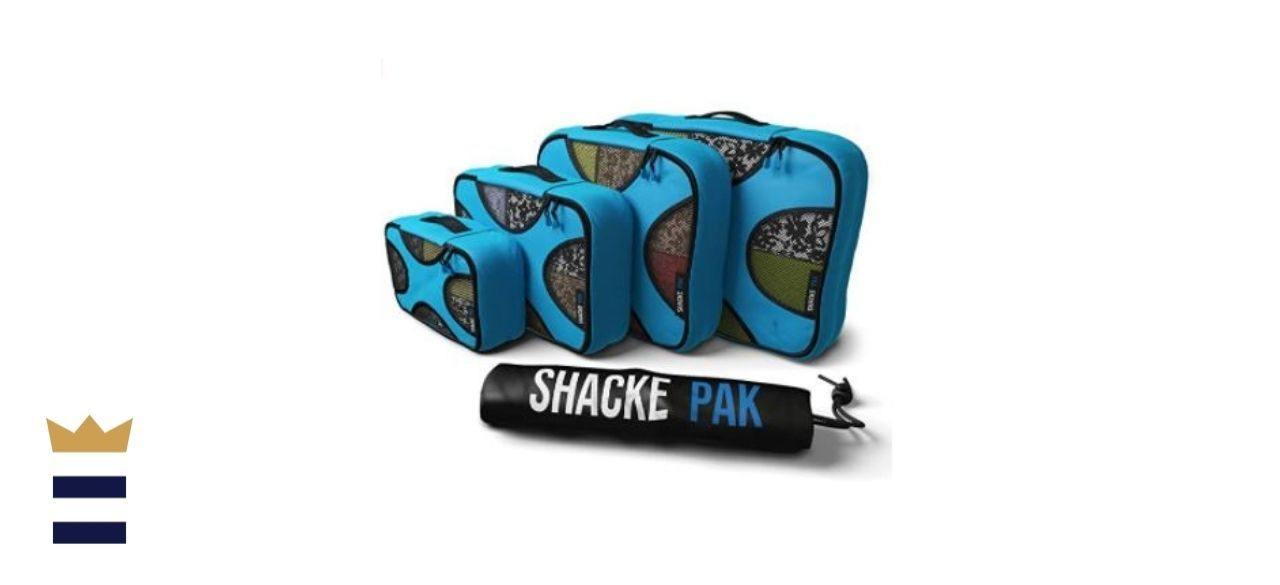 Shacke Pack 4 Set Packing Cubes with Laundry Bag