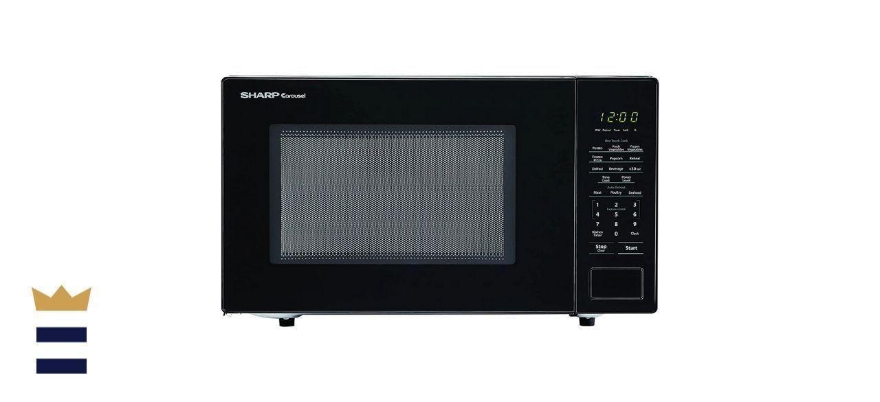 Sharp Black Carousel Countertop Microwave