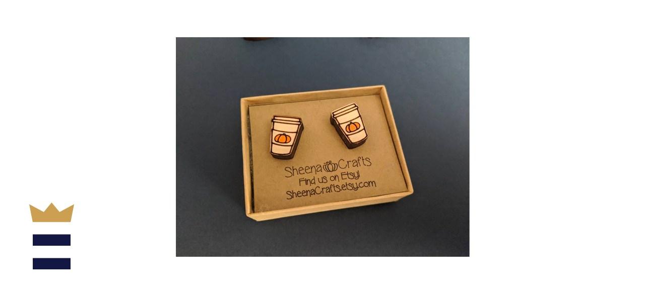 SheenaCrafts Pumpkin Spice Latte Earrings