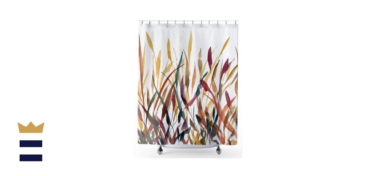 Shirtacle Harvest Grains & Grasses Shower Curtain