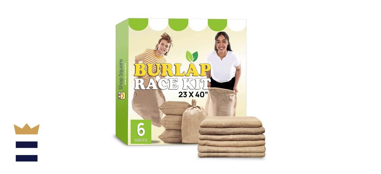 Shop Square Large Burlap Potato Sack Race Bags