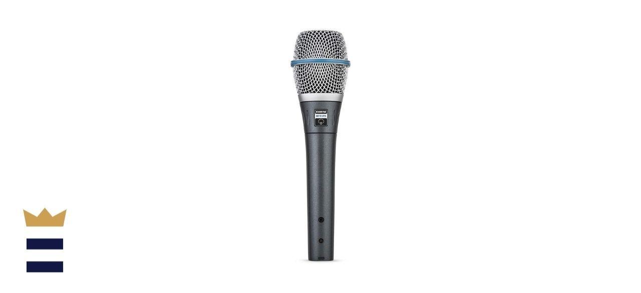 Shure's BETA 87A Supercardioid Handheld Condenser Microphone