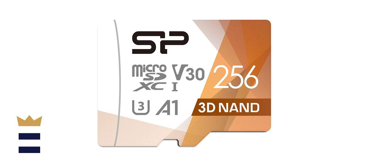 Silicon Power 256GB Micro SD Card U3 SDXC microsdxc High Speed MicroSD Memory Card with Adapter