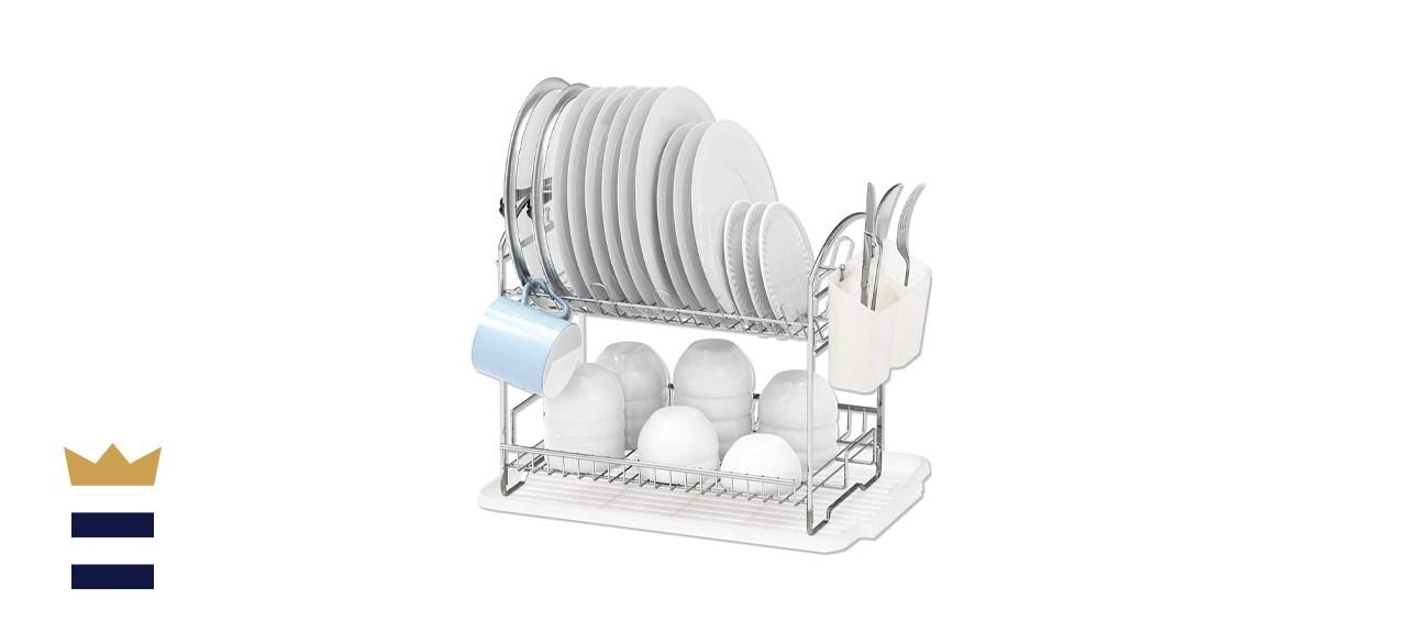 Simple Houseware Two-Tier Dish Rack