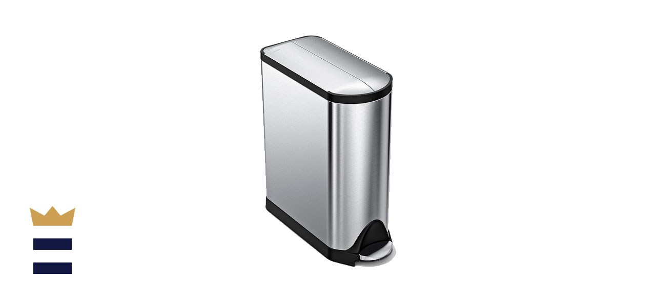 The simplehuman 11.9 Gallon Hands-Free Butterfly Lid Step Trash Can