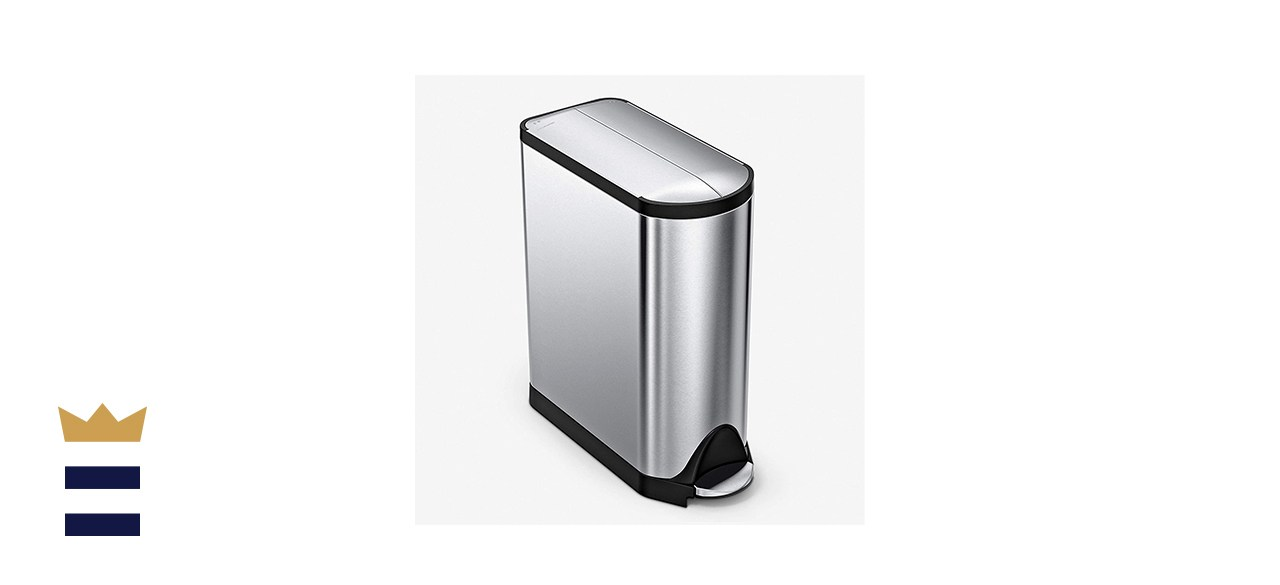 Simplehuman Butterfly Lid 45-Liter Step Trash Can